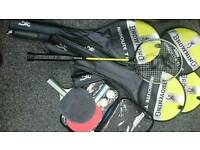 Table tennis and badminton sets