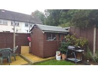 5-year-old shed in very good condition, 8 x 6 foot