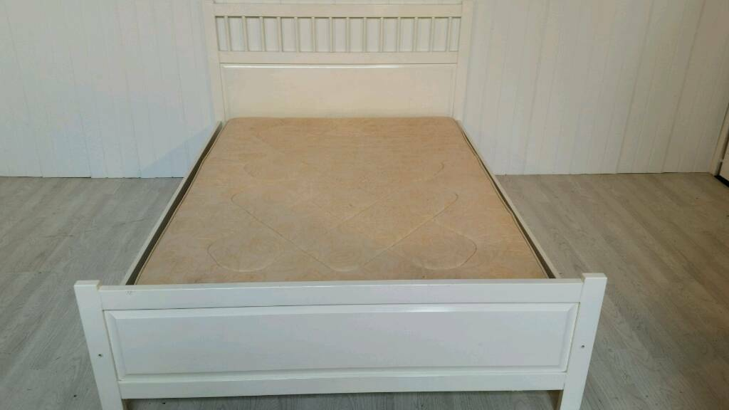 Pending Collection White Ikea Double Bed