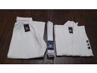 Kids White Student Karate Suit GI Size 110 + White Belt