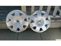"Pair of Genuine VW 15"" Wheel trims"