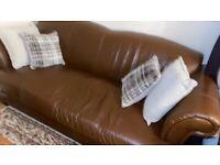 Sofas 3+3 seater brown sofas