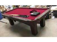 Pool table for sale with cues an balls