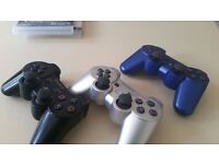 Playstation 3( like new) with 10 games plus three controllers