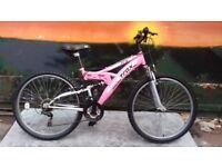 TRAX TFS Full Suspension Ladies Mountain Bike MINT