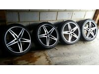 "18"" OZ Racing Energy alloy wheels tyres 5x112 5x114 Honda Volkswagen Mercedes"