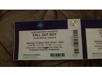 FALL OUT BOY STANDING TICKETS £40 each London O2 31/03/18
