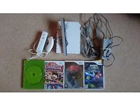 Nintendo Wii console with Mario Galaxy and Zelda Twilight Princess