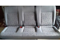 VW Transporter T5 Rear Quick Release Folding Bench Seat