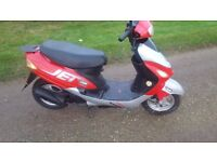 2008 jet moped,under 2k miles,new battery,been in storage,runs good,just needs mot.bargain £325 !!