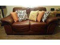 Leather sofa 2 seat excellent condition italian