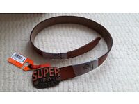 Superdry Tan leather belt 37""