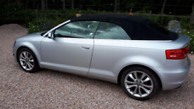 Audi, A3, Convertible, 2010, Manual, 1984 (cc), 2 doors Low Mileage, 12 months MOT