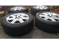 Volvo s40 mk2 alloy wheels and tyers