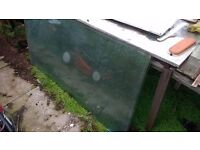 8 large panes of greenhouse glass