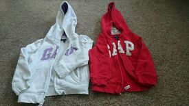 Girls Gap zip hoody age 3