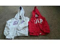 Girls Gap zip hoody age 3