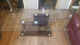 Brown glass centre table for sale