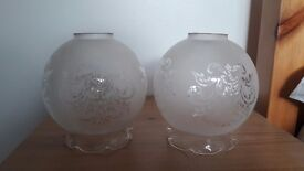 Pair of Glass globes