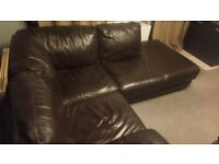 Leather Corner Sofa brown