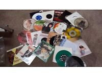 APPROX 650 X VINYL RECORDS. ROCK/POP 60'S TO 90'S. MOSTLY SINGLES