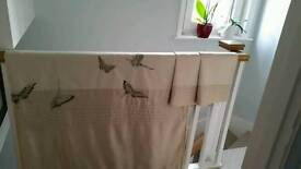 John lewis double duvet & pillow cases x 2. 100% cotton with pretty embroidered butterflies.