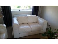Modern 2 Seater High Grade Leather Reid Sofa For Sale