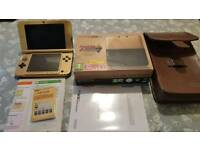 NINTENDO 3DS XL ZELDA A LINK BETWEEN WORLDS LIMITED EDITION GOLD CONSOLE BOXED WITH CASE