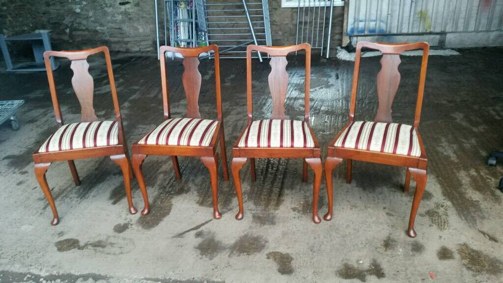 Set of Vintage Solid Wood Armchairs