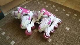 Girls skates adjustable size 4-7