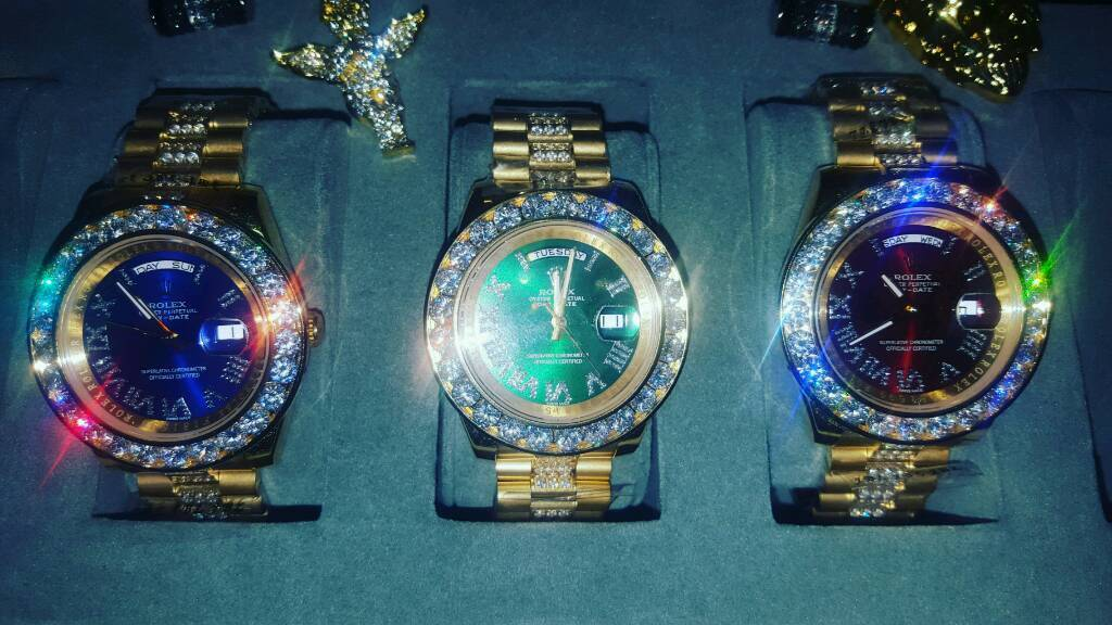 Rolex Day-Date President Diamond Iced Out