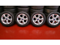 Ford Genuine 16 alloy wheels + 4 x tyres 215 55 16 Michelin Primacy 2014 like new