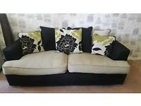 Monique sofa and swivel chair suite. Delivery available