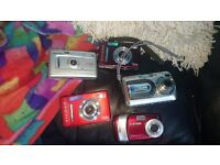 digital cameras x 5