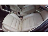 Cream leather seats