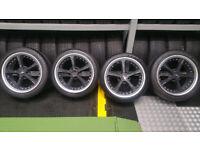 BMW AC Schnitzer Carbon 18 alloy wheels + 4 tyres 225 40 18/245 40 18