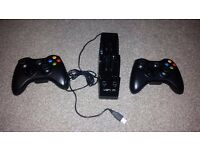2 x controller Wireless Xbox 360 + CHARGING STATION