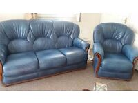 **SOLD** friends neighbour bought.....Urgent sale -Small size blue suite. 3 seater and two chairs.