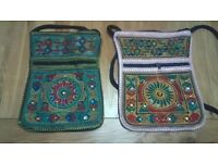 Bag - cloth and beads - suitable for Ipad/books etc.