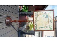 antique pole fire screen