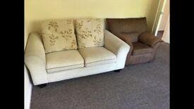 Double Sofa Set and Single Sofa for sell at Horsham