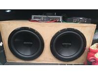 2 x Kenwood Subwoofers 1200 watts 400rms each