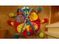 Baby bouncer, play mat and cot bed musical carousel