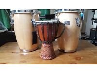 Conguita drums and small djemba