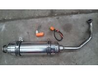 125cc Sports exhaust CDI and coil