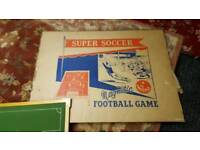 60s magnetic football game board and box