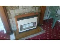 Valor gas fire and plinth