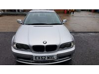 BMW 318 Ci 2.0 PETROL COUPE. EXCELLENT SERVICE HISTORY. MOT 18/2/17. FANTASTIC UNMARKED BBS