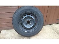 "Vauxhall Corsa 13"" steel wheel and tyre."