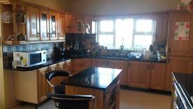 Kitchen doors and island